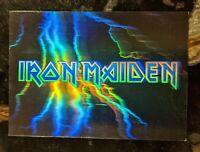 1991 IMPEL Mega Metal Trading Card - Hologram Chase Card Iron Maiden