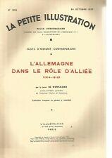LA PETITE ILLUSTRATION - L'ALLEMAGNE DANS LE ROLE D'ALLIEE (1914-1918)