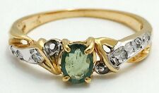 Genuine 0.43 Carats ALEXANDRITE & DIAMONDS Ring 14k Yellow Gold *APPRAISAL