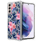 Case For [Samsung Galaxy S21 /S21 5G][Clear Bumper SET16] Clear Floral Slim