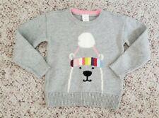 Nwt Baby Gap Girls Gray Knit Sweater w/ Bear Wearing Pompom (Reg $34.95) Sz 2T