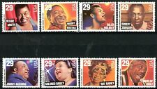 Jazz & Blues Singers Complete Set of 8 MNH Scott's 2854 to 2861