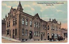 Rankin PA - MUNICIPAL BUILDING & FIRE DEPARTMENT - Postcard