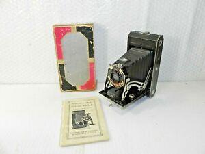 Antique Kodak 620 Art Deco Folding Camera with Box
