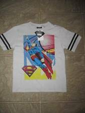 NWT Boys SUPERMAN T-shirt size Large L 7 Super Man Rugby Style Shirt