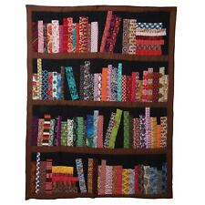 Art & Artifact Library Books Quilted Throw Blanket - 100 Cotton