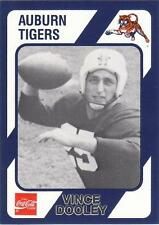 VINCE DOOLEY 1989 card #125 Auburn Tigers UGA Georgia Bulldogs Football NR MT