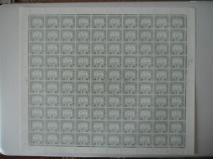 HONG KONG PD 2c SGD6a Chalky paper 1957 full sheet 100 very fresh SG Cat £150+