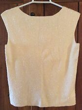 NWOT Ann taylor Ivory sequeened evening top M