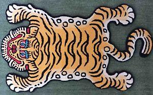 Tibetan Tiger Skin Rug Creative Pattern Carpet for Living Room and for Christmas