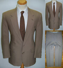 43R Mens MOD ~Cricketeer~ Khaki Wool Blend Vanilla Business Class Casual Suit