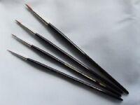Painters Detail Kolinsky Sable Brush Set Small  0 , 2/0 , 5/0, 10/0 CML1855S