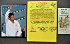 BAUMANN ALEX CANADA SWIMMING OLYMPIC GOLD MEDAL 1984 SIGNED WATCH PROMO LEAFLET
