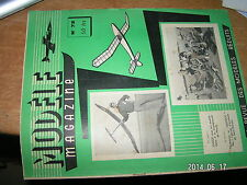 Modele Magazine n°72 Plan encarte Avion caoutchouc JOUJOU
