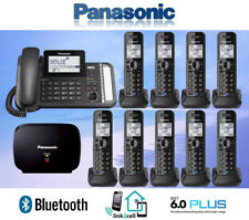 PANASONIC KX-TG9582B 2-LINE LINK2CELL 1 CORDED PHONE 9 CORDLESS 1 REPEATER