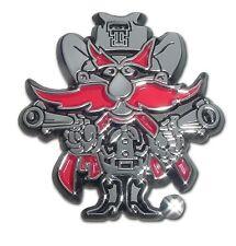 Texas Tech Red Raiders Chrome Metal Auto Emblem (Red Raider) NCAA Licensed