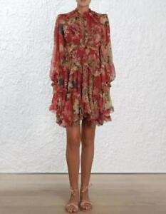 Floral Printed Dresses Puff sleeve Ruffle Dress Summer Autumn Dress Lace Beach
