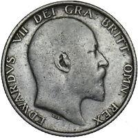 1909 SHILLING - EDWARD VII BRITISH SILVER COIN