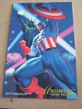 Marvel Master Prints 1994 Fleer Hildebradnt - Captain America 6 1/2 x 10    ZPO0