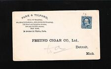 Park & Tilford New York Preprint Freund Cigar Detroit 1896 Cover 2q