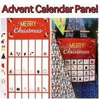 Nutex 100% Cotton Fabric Merry Christmas Fold-Up Advent Calendar Panel