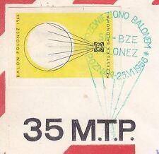 POLAND 1966.VI.25 Ballon POLONEZ, Mail Cat.41c Start POZNAN - POZNAN landing