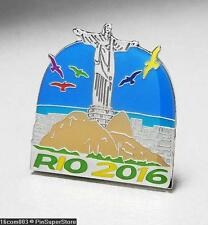OLYMPIC PINS BADGE 2016 RIO DE JANEIRO BRAZIL JESUS CHRIST THE REDEEMER STATUE