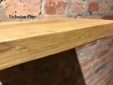 "Floating Wood Shelf Rustic Chunky Reclaimed Timber Shelves 12"" Deep Handmade"