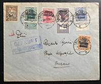 1916 Bucarest Romania German Occupation cover  To Buzan Tax Stamp