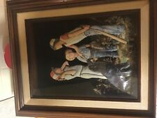 Vintage Norman Rockwell picture in frame