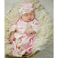 Exclusive! NEW! Haute Baby Boutique Newborn Girls Gown Chic Petit