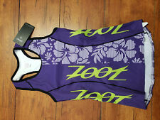 Zoot Women's Xs Performance Tri Top Racerback Purple Haze Flower Shirt Singlet