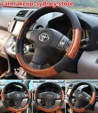 Luxury auto car Steering Wheel Cover mahogany Wood Look fit 37,38cm,39 most car