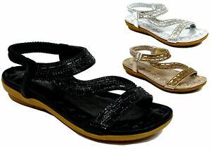 Girls New Casual Open Toe Wedge Heel Back Sling Diamond Design UK Size  10-3