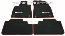 LEXUS OEM FACTORY F-SPORT FLOOR MAT SET 2016-2017 RX350 RX450H BLACK AND RED