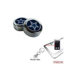 Brand New NFL Dallas Cowboys Chrome License Plate Frame Screw Caps