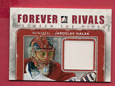 RARE 2012-13 FOREVER RIVALS HABS JAROSLAV HALAK BEETWEEN THE PIPES JERSEY