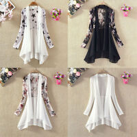 Summer Women Chiffon Cardigan Sun Protection Cover Top Blouse Dress Jacket Coat