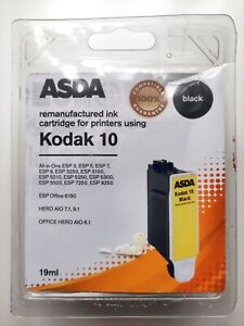 ASDA compatible 100% Kodak 10B Black Ink Cartridge Sealed! New in Box!