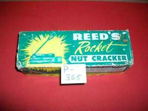 VINTAGE REED'S ROCKET NUT CRACKER ORIGINAL FACTORY BOX-LOOKS UNUSED-COLLECTIBLE