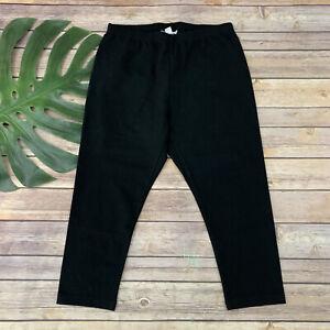 J Jill Pima Capri Leggings Size S Petite New Black Solid Stretch High Rise