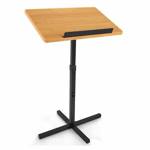 Pyle Adjustable Lectern Presentation Podium Stand with Laptop Holder (Open Box)