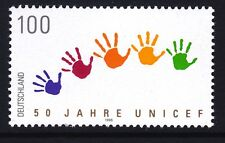 Germany 1935 Mnh 1996 Unicef 50th Anniversary Children's Hands Issue Vf