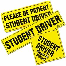 Zone Tech Please Be Patient Student Driver Reflective Car Bumper Magnets Warning