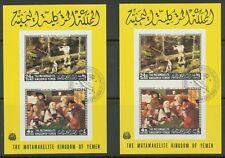 KINGDOM OF YEMEN 1968 paintings by American and European masters 24 B. + 4 B.