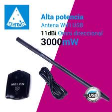 ⭐ Antena WiFi omnidireccional ralink 3070 USB 11dbi alta potencia Melon N3000 ⭐