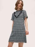 2019 NEW AUTH Kate Spade New York bicolor scallop tweed dress $398