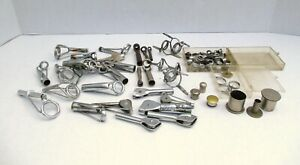 Large Lot VINTAGE Assorted Fly & Fishing Rod Building Metal Guides & Parts  #96