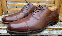 Johnston & Murphy Signature Series Oxford Shoes Brown Leather Cap Toe Size 10