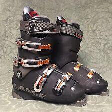 Lange Comp 100 Downhill Ski Boots Men's Size 7 Orange & Black Power Plate 299 mm